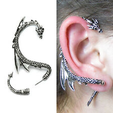 Silver Dragon Snake Punk Clip Wrap Gothic Stud Earring   -   Combine Shipping*