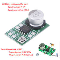 DC 3V~12V 5V 6V LM386 mini micro audio power amplifier board AMP module 75 JR