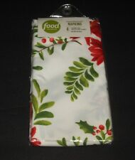 """Food Network Holiday Poinsettia 20"""" x 20"""" Napkins set of 4 New in Pack"""