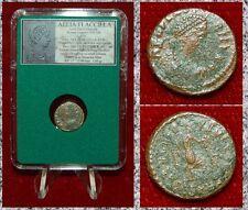 Imperio Romano Moneda Aelia Flacilla Victoria escribir chi-ro en reverso Rara Moneda!