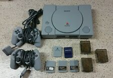 Sony PS1 PlayStation 1 Game Bundle Original Console Power Cable 2 Controlers etc