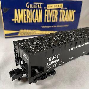 American Flyer # 6-48620 Baltimore & Ohio Hopper Coal Load NIB