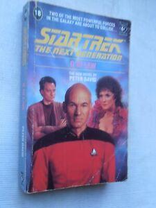 Star Trek Signed Peter David Q IN LAW used NEXT GENERATION 1991 Titan p/b book