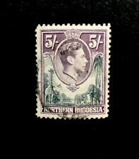 northern rhodesia SG 43  1938 5/- Used