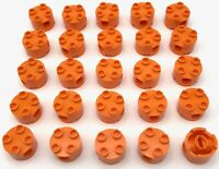 Lego 25 New Orange Bricks Round 2 x 2 with Pin Holes Pieces