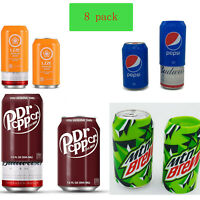 Beer can covers 8 pack, silicone beverage sleeve hide a beer that look like soda