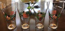Vintage Big Boy Restaurant Christmas Holiday Glasses Set of 4