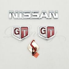 OEM R32 Skyline GTR emblem kit Front S Side GT Rear Nissan badge package