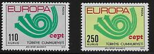 Turkey Scott #1935-36, Singles 1973 Complete Set FVF MNH