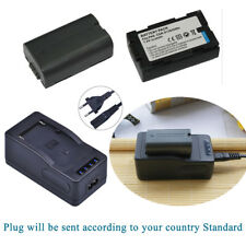 2XBattery for Panasonic AG-DVX100BE CGR-D120 CGP-D08S NV-DS55 & quick Charger