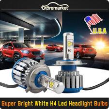 2PCS Turbo Car Headlight H4 LED Bulbs High Low Beam 6000K Auto Canbus High Power
