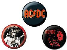 AC/DC - Button-Set - Buttons - Badges - Neu - Red #02