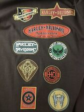Harley Davidson Motorcycles Mens L Brown Multi-Color Decals T-Shirt