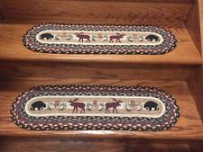Black Bear and Moose Print Stair Tread-13 pc set