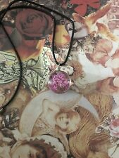 Pink Flower Necklace flat