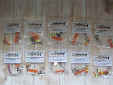 Sea fishing Rigs x 10: Flatfish Rigs - Flounder, Dabs, Plaice, Quality Rigs