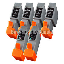 6 Pack Ink Cartridge for Canon BCI-24 BCI24 BCI 24 BCI-24 High Capacity