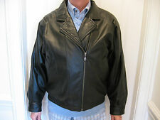 WILSONS MENS CLASSIC BLACK LEATHER JACKET SIZE M , EXCELLENT CONDITION