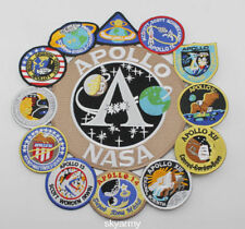 Apollo Mission Patch Collage 1,7,8,9,10,11,12,13,14,15,16,17 NASA Patch