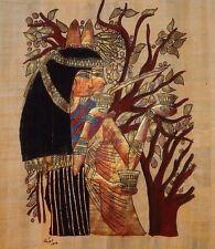 Original Egyptian Art Scene Signed Papyrus Gilt Certificate Abw ElHool Gallery