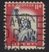 [JSC]1954 USA Lady Liberty Freiheitsstatue In God We Trust Stamp 11c