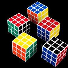 5 St. Zauberwürfel Magischer Würfel Magic Cube 30 x 30 x 30 mm Spiel 54 Felder B