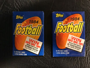 2 TWO Wax Packs Pack Lot As Shown-1984 Topps Football UNOPENED Marino Elway RC?