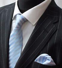 Tie Neck tie with Handkerchief Light Blue