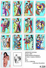 Russian pin up playing cards nude Americos in Сhina erotic kartenspiel