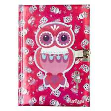 Smiggle A5 Chirpy Lockable Notebook - Owl - Pink - Brand New
