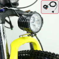 12W Headlight With Horn Electric Bicycle Scooter Front Lamp BAFANG 36V 48V 72V
