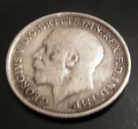 SOLID SILVER Three pence 1913 Coin Unlucky for some number Antique Vintage Retro