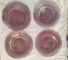 4 PHOENIX CONSOLIDATED PLATE Purple Glass CATALONIAN PATTERN 8 1/2