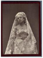 Léonide Leblanc Vintage albumen print. Tirage albuminé  9x12  Circa 1880
