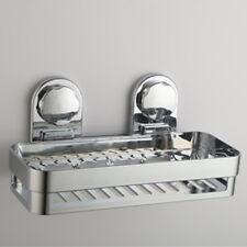 Bathroom Organize Tidy Basket Non Rust Accessor Chrome Bath Shower Caddy Suction