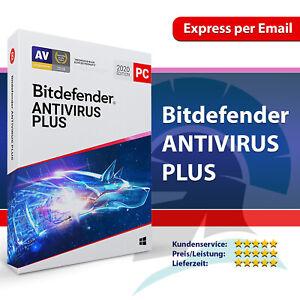 Bitdefender Antivirus Plus 2021 1, 3, 5, 10 PC / 1, 2, 3 Jahre, Aktivierungscode
