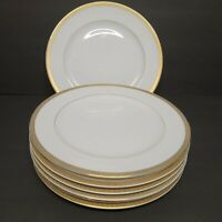 "Lot of 7 VTG Regency GOLD PATTERN 10.25"" Dinner Plates Fine China Japan"