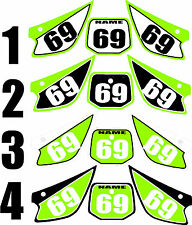 Number Plate Graphics for 1998-2007 Kawasaki KX 80 85 100 Side Panels Decal