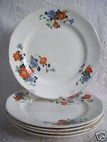 Antique 5 breakfast Plates Golden Glo Glow American Dinnerware Pattern Limoges