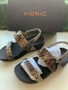 VIONIC - BOLINOS - 'Snakeskin' sandals size 5
