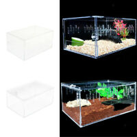 Reptiles Insect Tank Breeding Box Snakes Turtles Acrylic Terrarium Tank