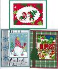 Handmade CROSS STITCH  and REGULAR CHRISTMAS CARDS #CX-CC--Lot of 3