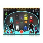 Official & Fully Licensed Among us Crewmate Figures 8 Pack Deluxe Box v2 (Blue)
