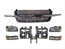 Bundle for 03-04 Silverado Grille Gray/Chr Signal Headlight Mounting Support 7P