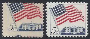 """1208 - 5c 2-Way Misperf Error / EFO """"Flag"""" Mint NH """"Read"""""""