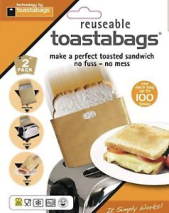 Patented toastabags, Reusable Sandwich Toaster Bag Toast Bags - No Fuss, No Mess