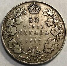 CANADA - George V - World War I - Silver 50 Cents - 1917 - KM-25
