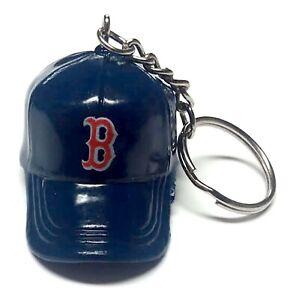 "BOSTON RED SOX KEYCHAIN CAP HAT 2"" LONG NEW LICENSED MLB BASEBALL CHARM PULL"