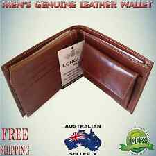 Luxury Mens Genuine cash credit card Quality Leather Wallet trifold Coin Purse