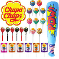 Chupa Chups 2 Showbags Assorted Original Cramy Mini Bulk Lollies Inflatable Bat